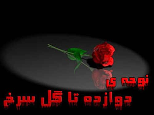 دانلود نوحه دوازده تا گل سرخ
